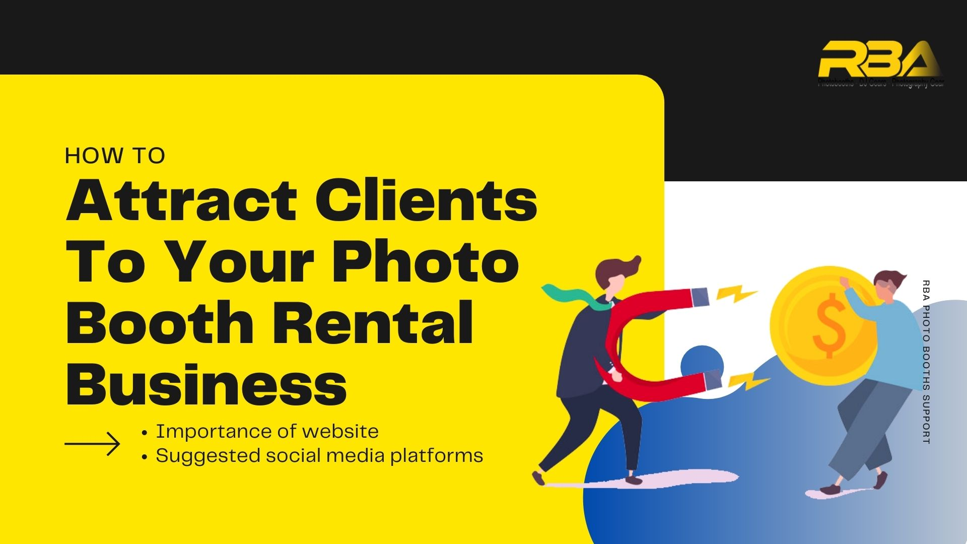 how to attract customers to your photo booth business